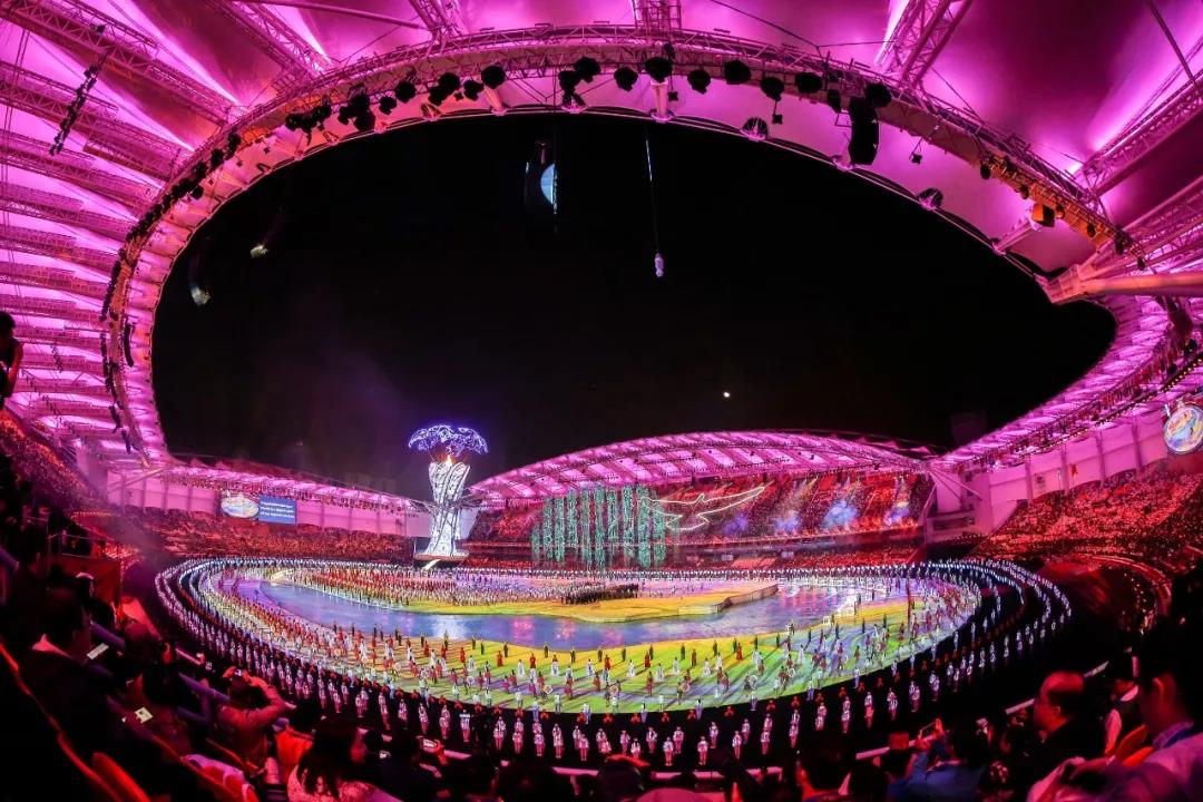 A great successful ending of Wuhan military world games opening ceremony!